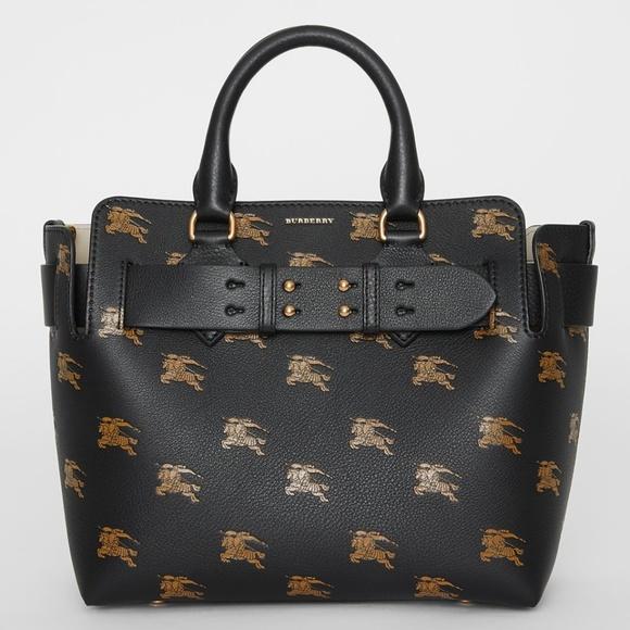 Burberry Handbags - 🔥NWT Burberry Equestrian Knight Leather Belt Bag